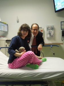 Charlotte with Dr. Backer
